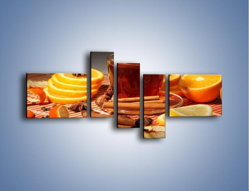 Obraz na płótnie – Imbirowo-pomarańczowe rozluźnienie – pięcioczęściowy JN260W5