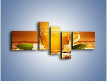 Obraz na płótnie – Delikatny smak herbaty – pięcioczęściowy JN261W5