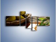 Obraz na płótnie – Bogactwa wydobyte z oliwek – pięcioczęściowy JN270W5