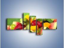 Obraz na płótnie – Arbuzowa misa z owocami – pięcioczęściowy JN274W5