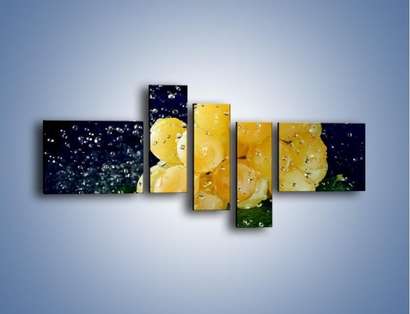 Obraz na płótnie – Słodkie winogrona z miętą – pięcioczęściowy JN286W5