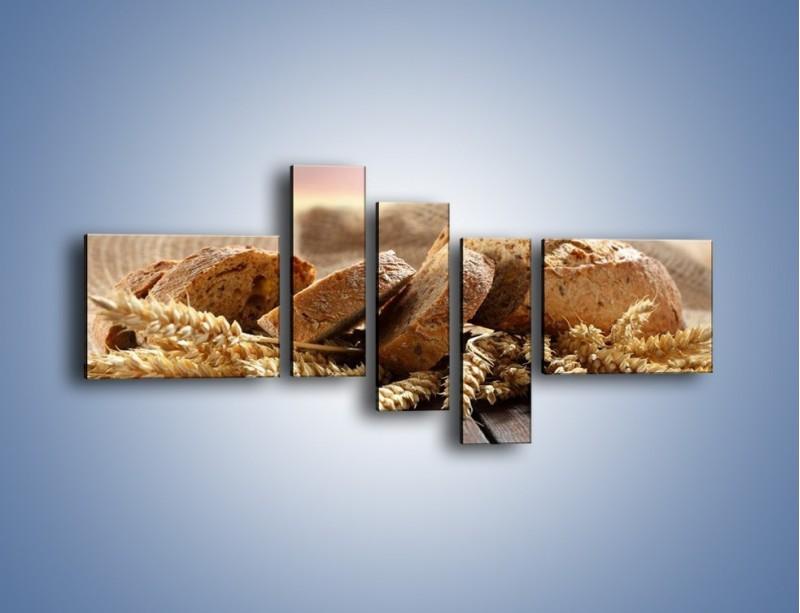Obraz na płótnie – Świeży pszenny chleb – pięcioczęściowy JN287W5