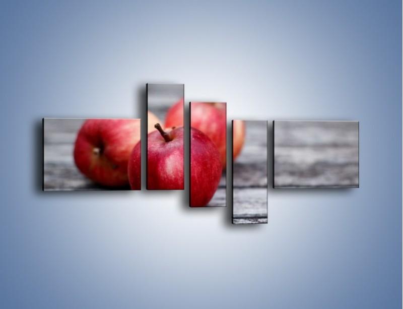 Obraz na płótnie – Jabłkowe zdrowie – pięcioczęściowy JN296W5