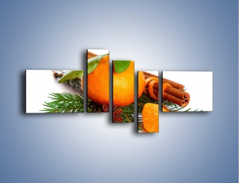 Obraz na płótnie – Pomarańcza na święta – pięcioczęściowy JN306W5