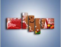 Obraz na płótnie – Ciasteczkowy ulubieniec dzieci – pięcioczęściowy JN308W5