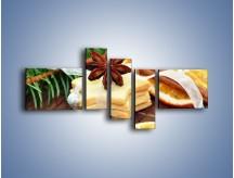 Obraz na płótnie – Ciastka z pomarańczą – pięcioczęściowy JN314W5