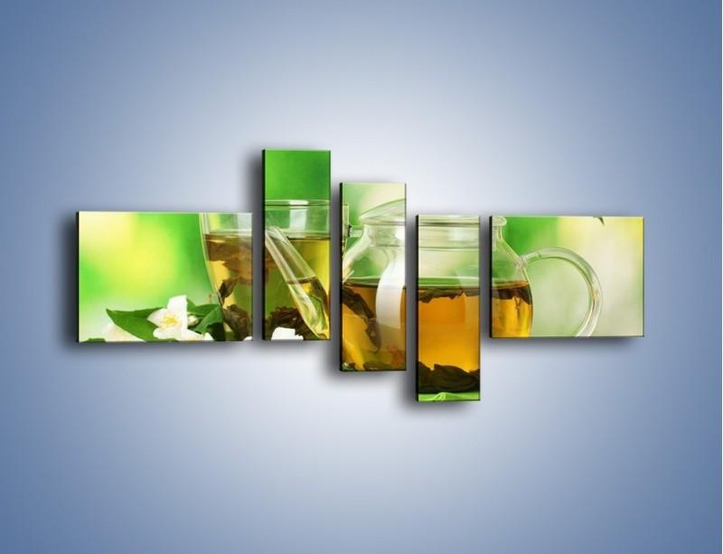 Obraz na płótnie – Herbaciane ukojenie – pięcioczęściowy JN316W5