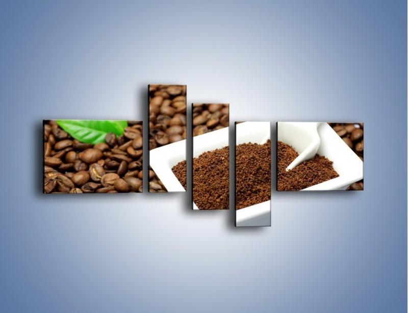 Obraz na płótnie – Zmielona kawa – pięcioczęściowy JN340W5
