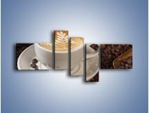Obraz na płótnie – Czas na kawę – pięcioczęściowy JN353W5