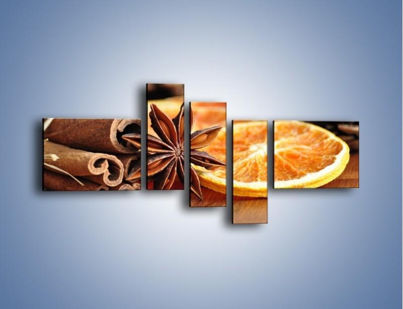 Obraz na płótnie – Pomarańcza z dodatkami – pięcioczęściowy JN357W5
