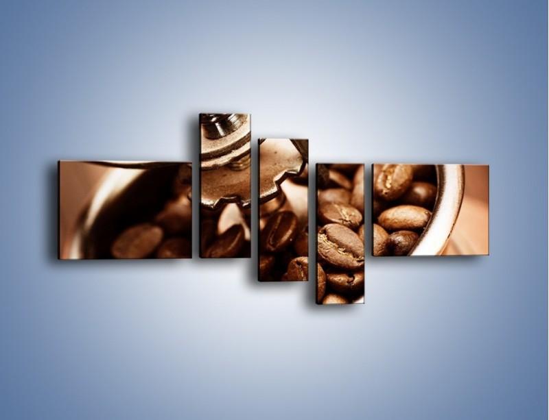 Obraz na płótnie – Kawa w młynku – pięcioczęściowy JN361W5