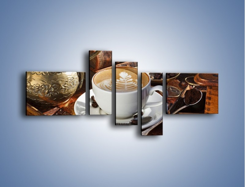 Obraz na płótnie – Wspomnienie przy kawie – pięcioczęściowy JN377W5