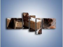 Obraz na płótnie – Czekoladowo-orzechowe wypieki – pięcioczęściowy JN427W5