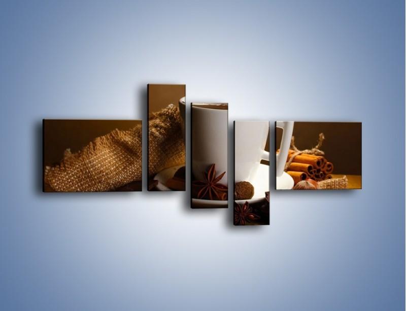 Obraz na płótnie – Gorąca czekolada z dodatkami – pięcioczęściowy JN452W5