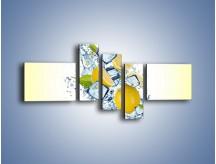 Obraz na płótnie – Cytrynowo-wirujące trio – pięcioczęściowy JN497W5