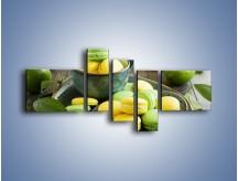 Obraz na płótnie – Cytrynowo-limonkowe ciasteczka – pięcioczęściowy JN724W5