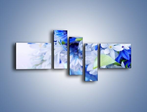 Obraz na płótnie – Kwiaty dla królowej śniegu – pięcioczęściowy K004W5