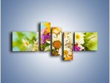 Obraz na płótnie – Bukiecik dla małej ogrodniczki – pięcioczęściowy K369W5