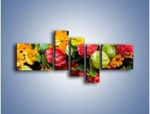Obraz na płótnie – Bukiet pełen soczystych kolorów – pięcioczęściowy K461W5