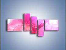 Obraz na płótnie – Budzący dzień w różowym kwiecie – pięcioczęściowy K487W5