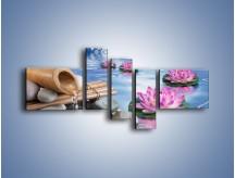 Obraz na płótnie – Baśniowy świat kwiatów – pięcioczęściowy K624W5