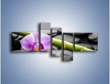 Obraz na płótnie – Bambus czy storczyk – pięcioczęściowy K686W5