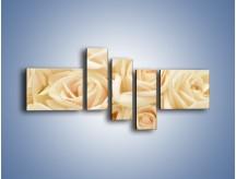 Obraz na płótnie – Bukiet herbacianych róż – pięcioczęściowy K710W5