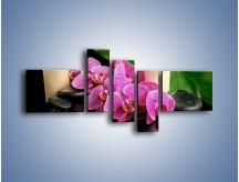 Obraz na płótnie – Ciepło ogień i kwiaty – pięcioczęściowy K881W5