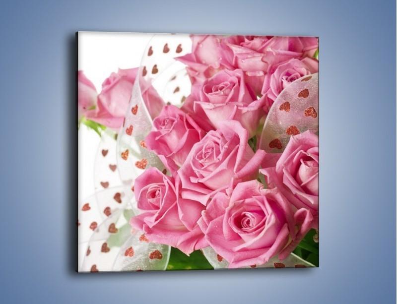 Obraz na płótnie – Bukiet pełny miłości – jednoczęściowy kwadratowy K208