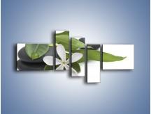 Obraz na płótnie – Artystyczna kompozycja z kwiatem – pięcioczęściowy K968W5