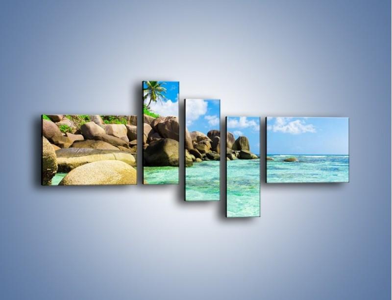 Obraz na płótnie – Lazurowa woda w tropikach – pięcioczęściowy KN035W5