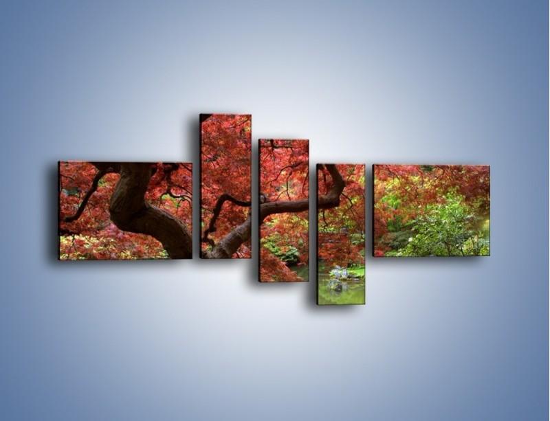 Obraz na płótnie – Pejzaż jak w raju – pięcioczęściowy KN069W5