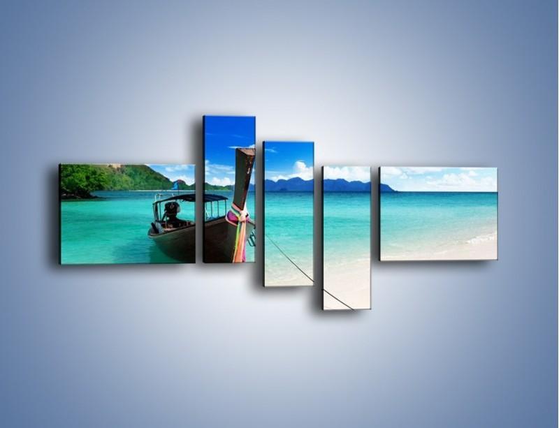 Obraz na płótnie – Wodny transport w tajlandii – pięcioczęściowy KN083W5