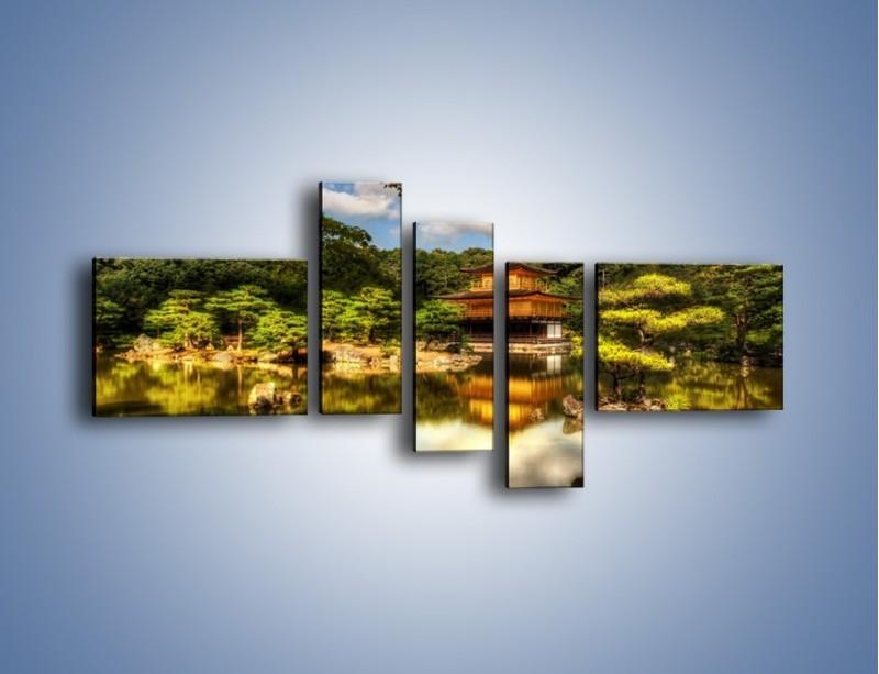 Obraz na płótnie – Widok z domu na wodę – pięcioczęściowy KN1030W5