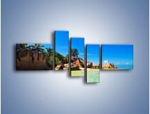 Obraz na płótnie – Bezludna wyspa i ja – pięcioczęściowy KN1058W5
