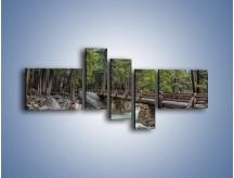 Obraz na płótnie – Bezpieczne przejście na druga stronę – pięcioczęściowy KN1060W5