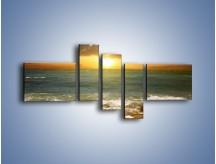 Obraz na płótnie – Brzegiem w stronę morza – pięcioczęściowy KN1092AW5