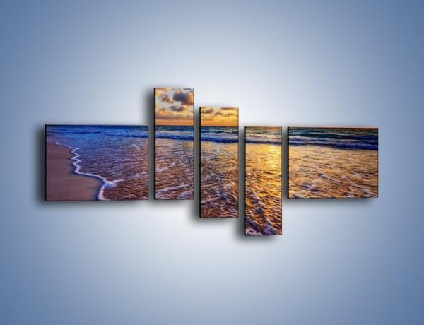 Obraz na płótnie – Piana i gładki piach – pięcioczęściowy KN1123AW5