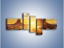 Obraz na płótnie – Budowle na piachu – pięcioczęściowy KN1133AW5