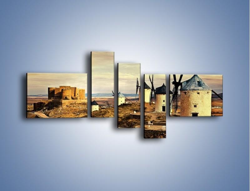 Obraz na płótnie – Młyny przy drodze do zamku – pięcioczęściowy KN1154AW5