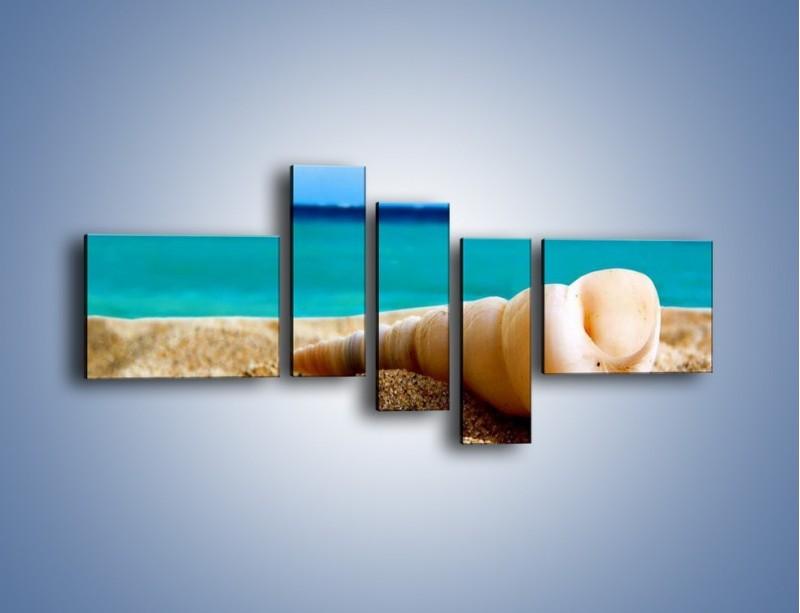 Obraz na płótnie – Czy uda się zobaczyć ślimaka – pięcioczęściowy KN1210AW5