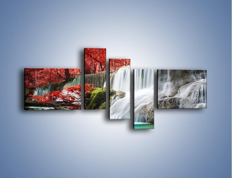 Obraz na płótnie – Zachwycić się naturą – pięcioczęściowy KN1250AW5