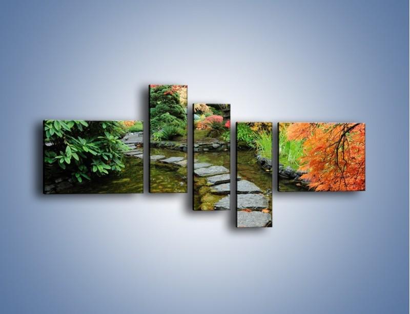 Obraz na płótnie – Skakać po kamieniach – pięcioczęściowy KN1252AW5