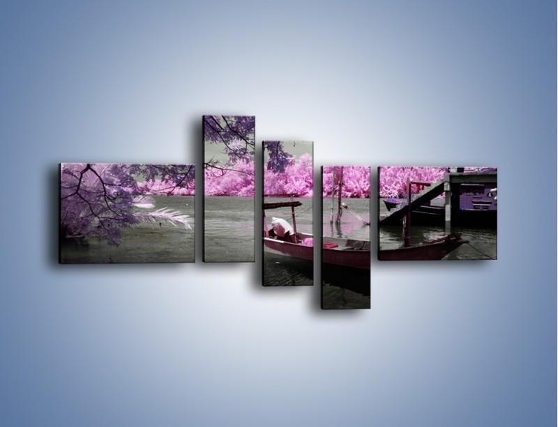 Obraz na płótnie – Krajobraz jak z japonii – pięcioczęściowy KN1277AW5