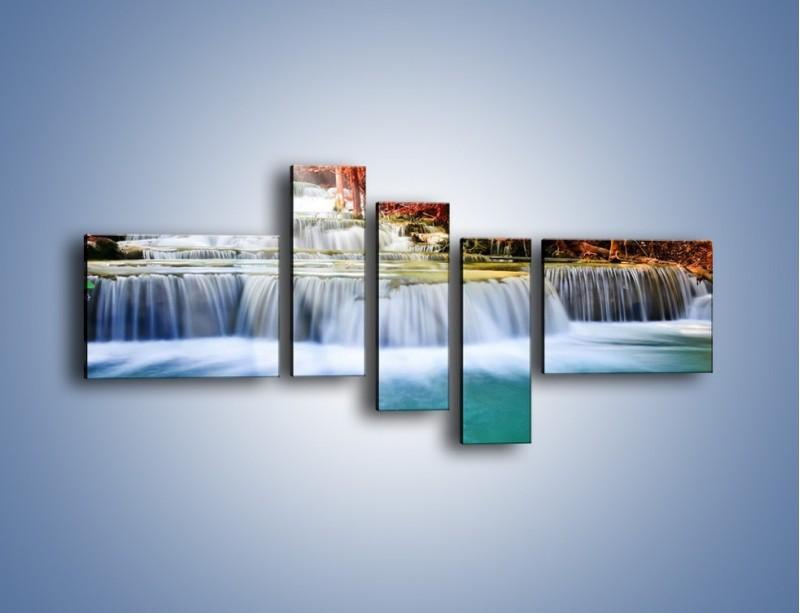 Obraz na płótnie – Jak przyjemnie nad wodą – pięcioczęściowy KN1291AW5