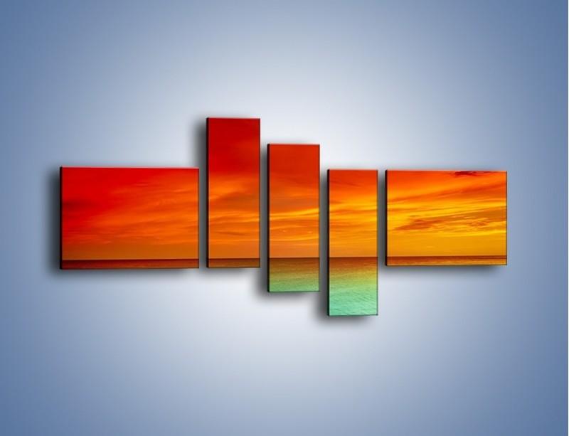 Obraz na płótnie – Horyzont w kolorach tęczy – pięcioczęściowy KN1303AW5