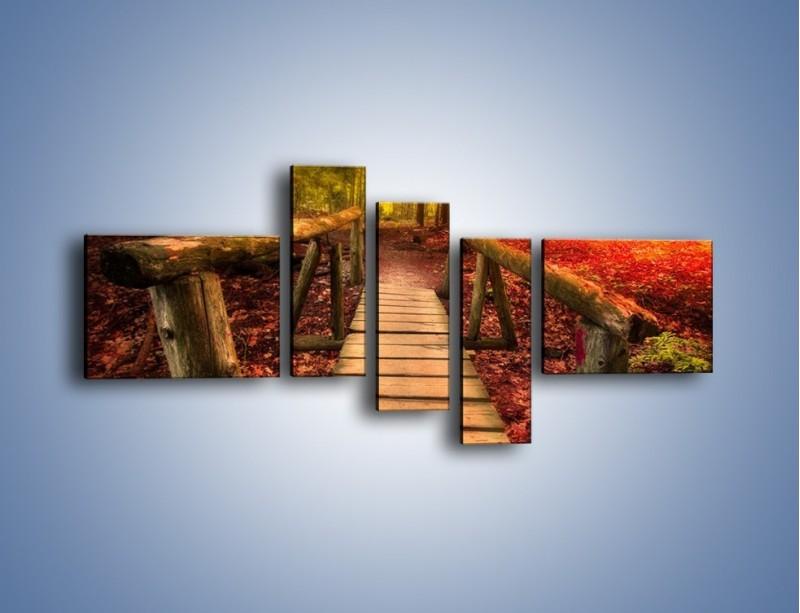 Obraz na płótnie – Krótkie przejście przez las – pięcioczęściowy KN1330AW5