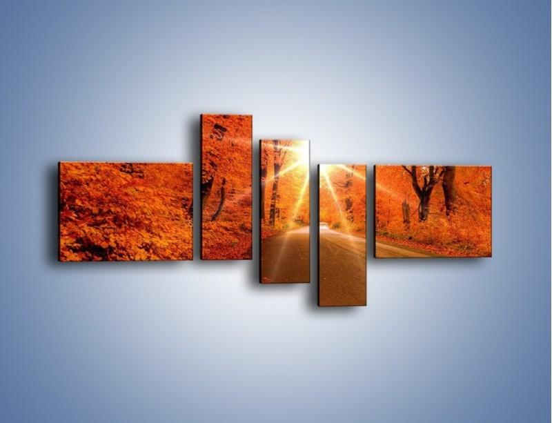 Obraz na płótnie – Droga pełna słońca – pięcioczęściowy KN160W5