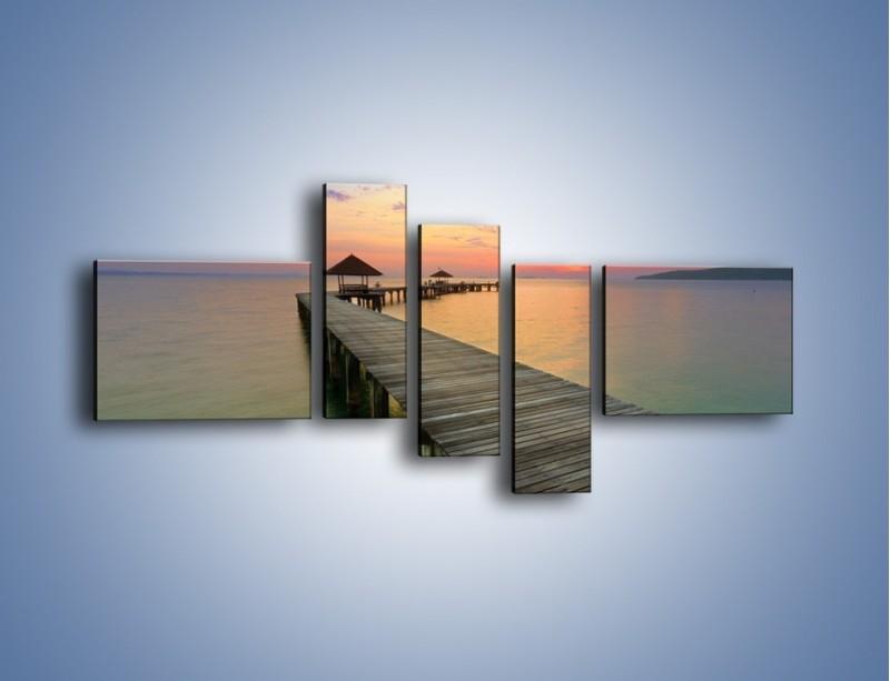 Obraz na płótnie – Krętym pomostem do morza – pięcioczęściowy KN327W5