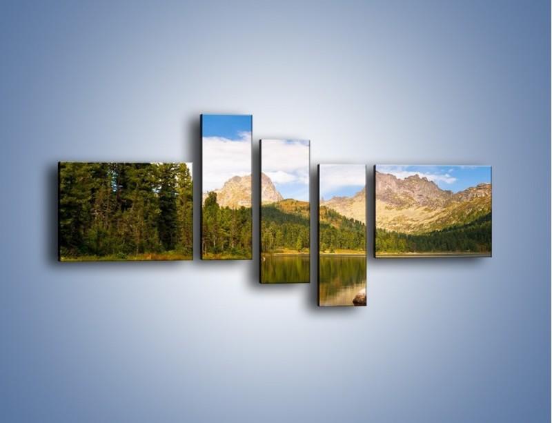 Obraz na płótnie – Widok nie tylko na góry – pięcioczęściowy KN401W5